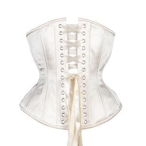 French Lace and Creme Corset, Hourglass Silhouette, Regular