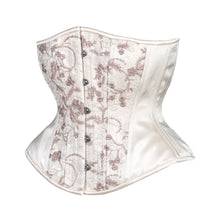 Load image into Gallery viewer, French Lace and Creme Corset, Hourglass Silhouette, Regular