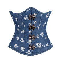 Load image into Gallery viewer, Denim Skulls Corset, Slim Silhouette, Regular