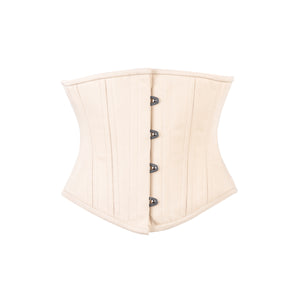 Beige Cotton Corset, Slim Silhouette, Short