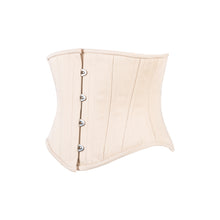 Load image into Gallery viewer, Beige Cotton Corset, Slim Silhouette, Short