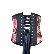 Load image into Gallery viewer, Victorian Rose Garden Corset, Slim Silhouette, Short