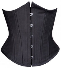 Load image into Gallery viewer, Black Cashmere Corset