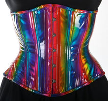 Load image into Gallery viewer, Rainbow Underbust Corset, CUSTOM ORDER