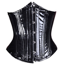 Load image into Gallery viewer, Shiny Black Vinyl Corset