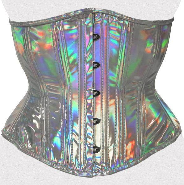 Opal Holographic Underbust Corset, Multi Silhouette