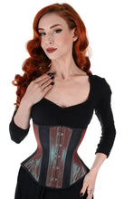 Load image into Gallery viewer, Aqua Iridescent Corset