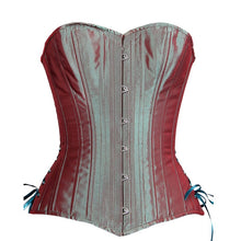 Load image into Gallery viewer, Aqua Iridescent Overbust Corset