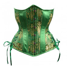 Load image into Gallery viewer, Emerald Long Hourglass Corset
