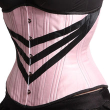 Load image into Gallery viewer, Pink Corset with Chevrons, Hourglass Silhouette, Regular**