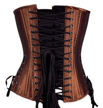 Load image into Gallery viewer, Rusted Brown Overbust Corset
