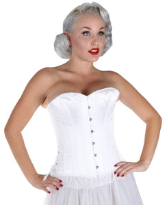 White Satin Bridal Over Bust