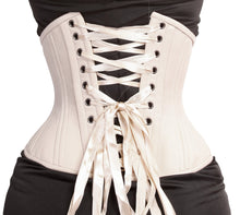 Load image into Gallery viewer, Creme Steel Boned Waist Cincher
