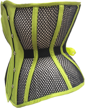 Load image into Gallery viewer, Neon Green with Black Mesh Underbust Corset, CUSTOM ORDER