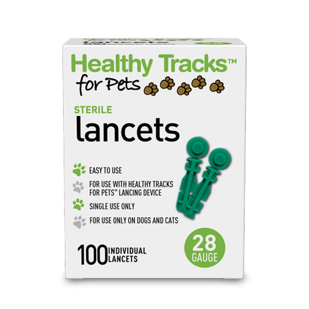 Healthy Tracks for Pets™ Lancets, 28G - 100 ct.