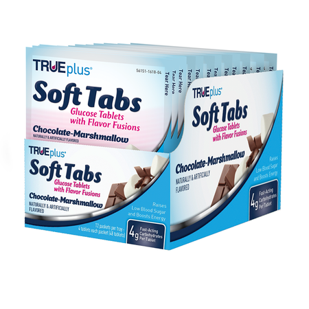TRUEplus® Chocolate Marshmallow Soft Tabs Tray - 48 ct.