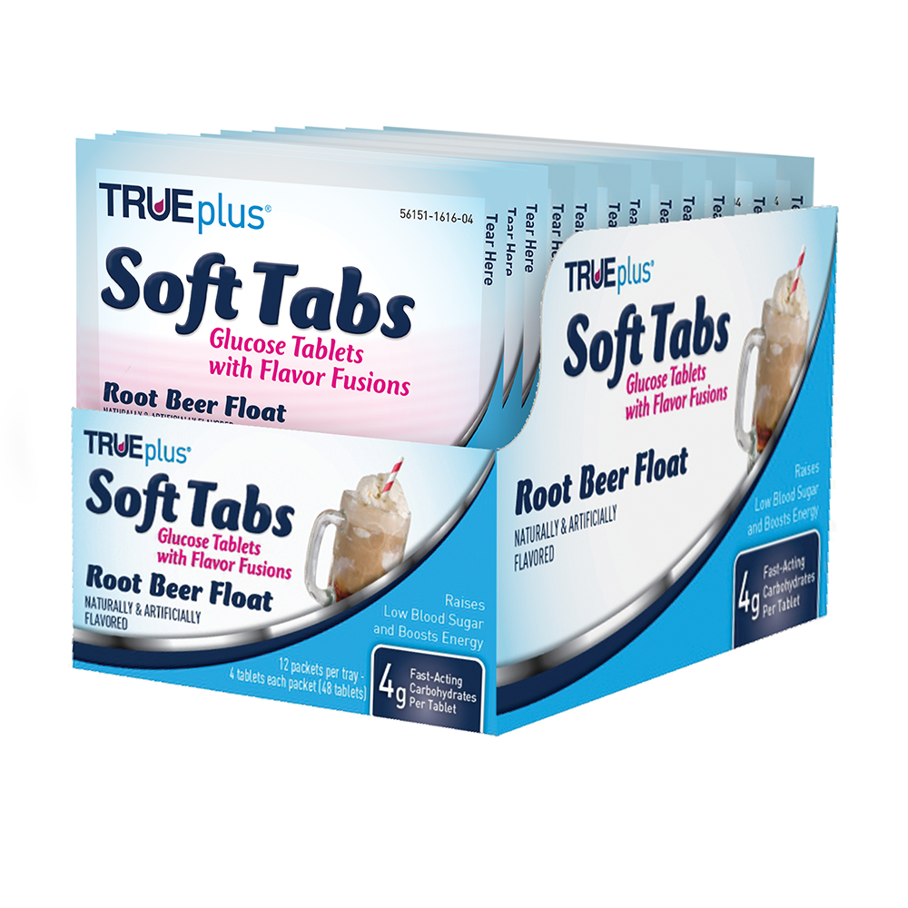 TRUEplus® Root Beer Soft Tabs Tray - 48 ct.