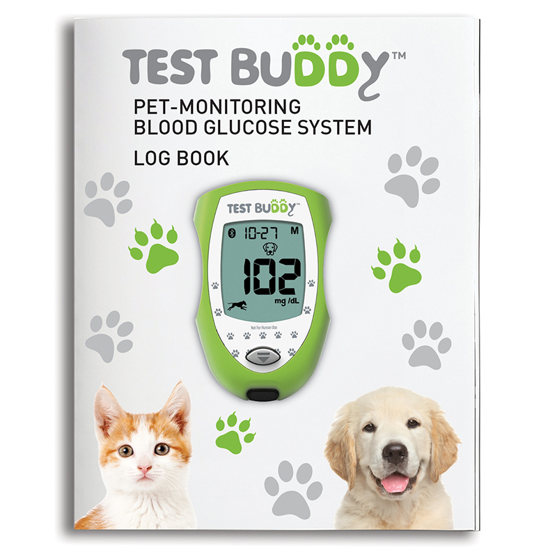 Test Buddy™ Glucose Log Book for Pets
