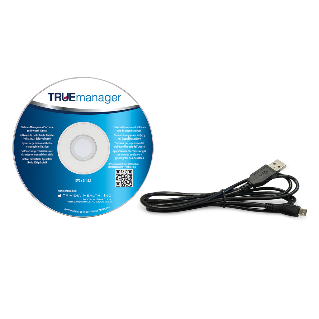 MICRO USB Cable for use with the TRUE METRIX® GO Blood Glucose Meter