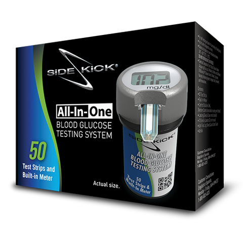 Sidekick® All-In-One Blood Glucose Testing System