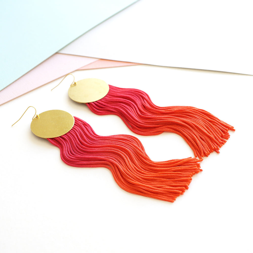 PINK PASSION TASSEL EARRINGS