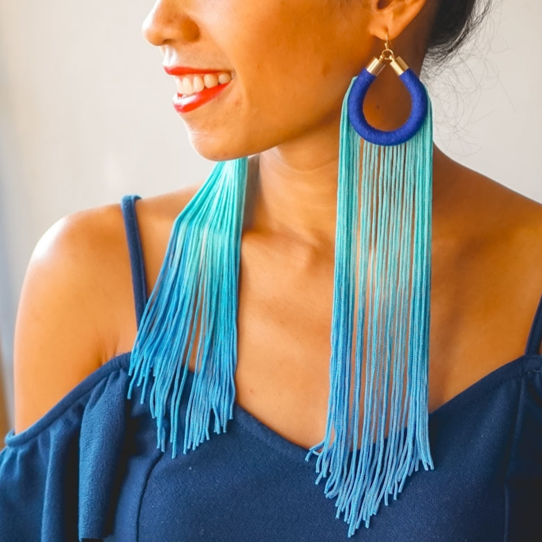 LAURYN LONG TASSEL EARRINGS
