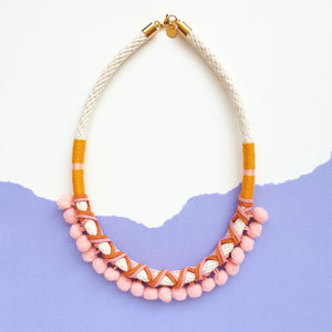 PEACH POMMIE NECKLACE