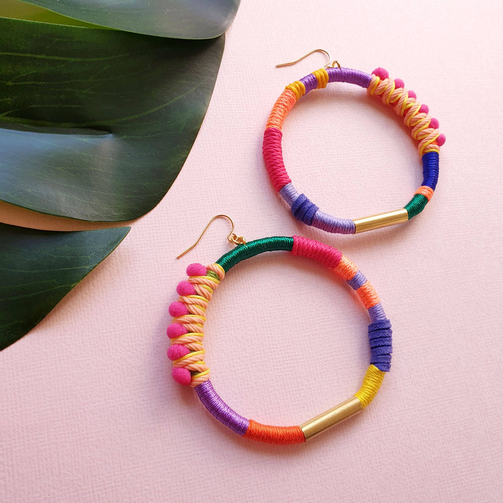 BRAVE Hoop Earrings