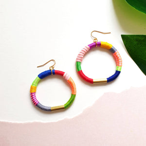 Load image into Gallery viewer, SMILE Hoop Earrings