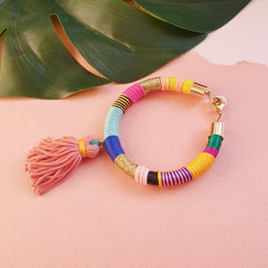 Load image into Gallery viewer, HAPPY Tassel Bracelet
