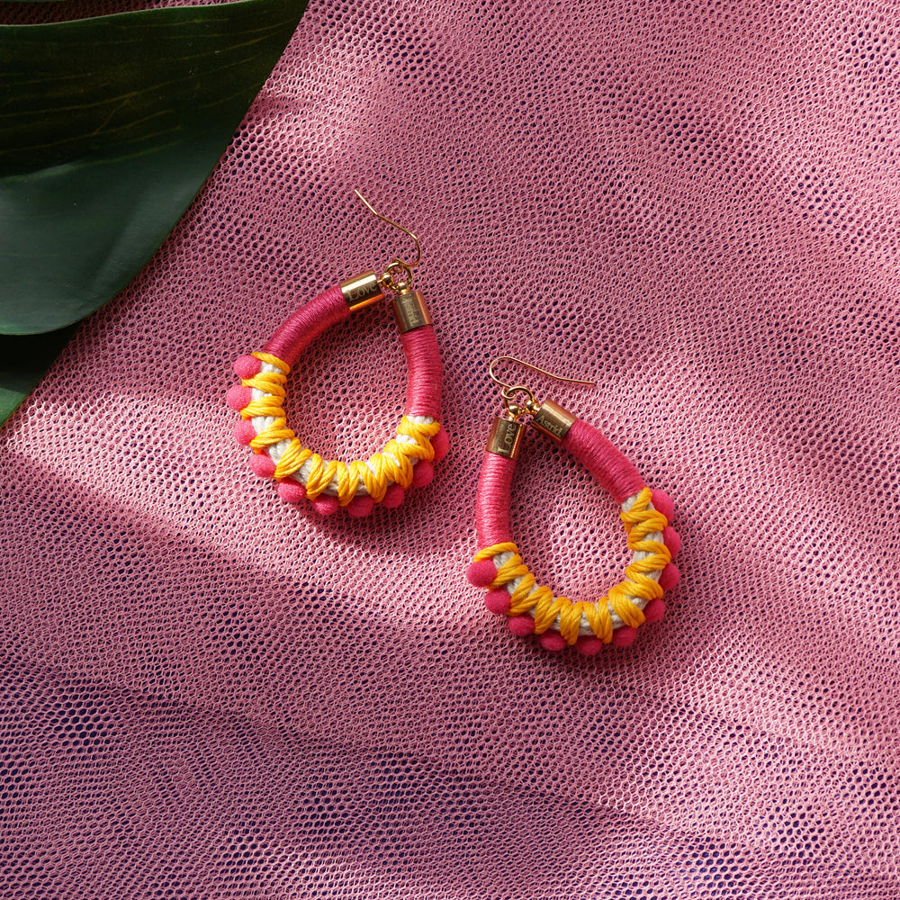 POMS PINK POM POM EARRINGS