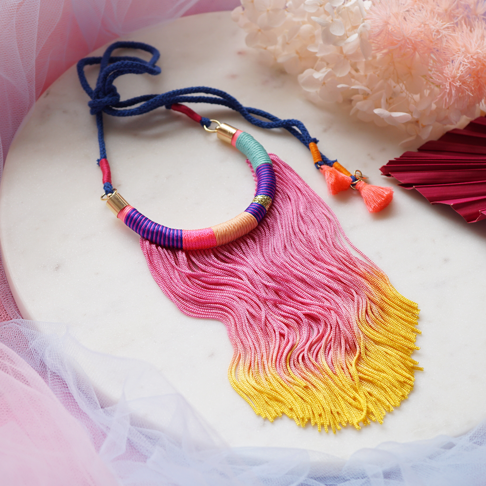 She's Vibrant Tassel Necklace