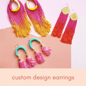 Custom Colour for Tassel Earrings