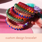 Custom colour - Pom Pom Bracelet
