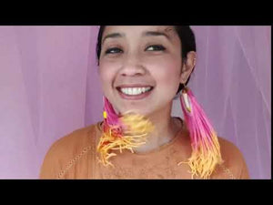 Load and play video in Gallery viewer, CHILLI TASSEL EARRINGS