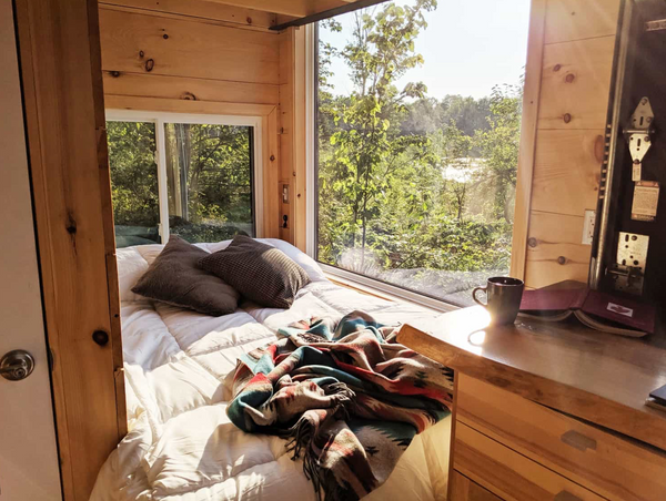 White Terry Home in the Wild: Experience Our Sheets at Cabinscape