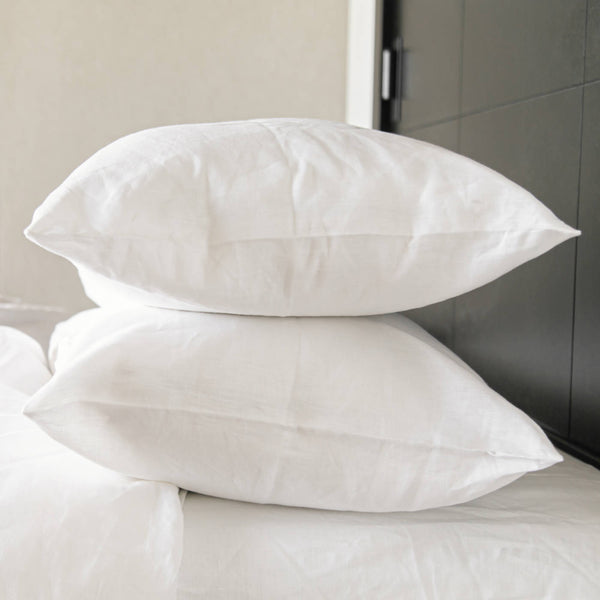 If Only Home French Linen Pillow Cases Snow