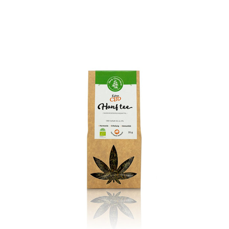 cbd tea hemp chanvre hanftee extra blüten flowers