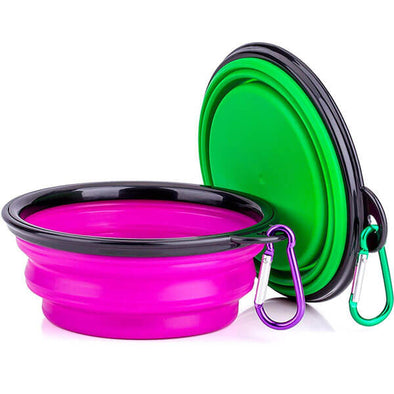 Travel Water & Food Foldable Silicone Bowls