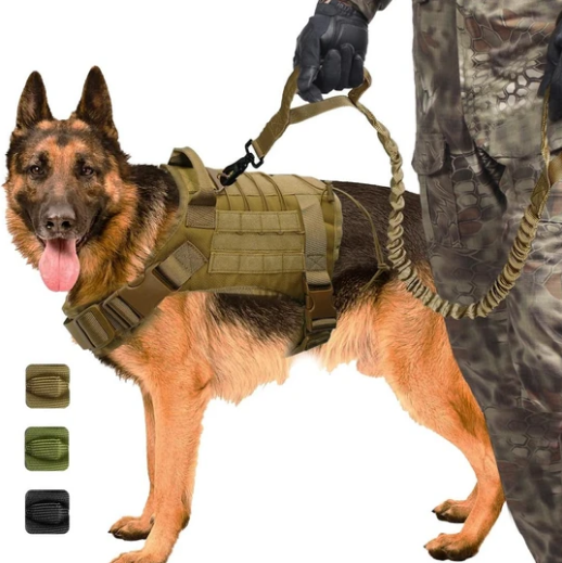 Military No-Pull Tactical Dog Harness