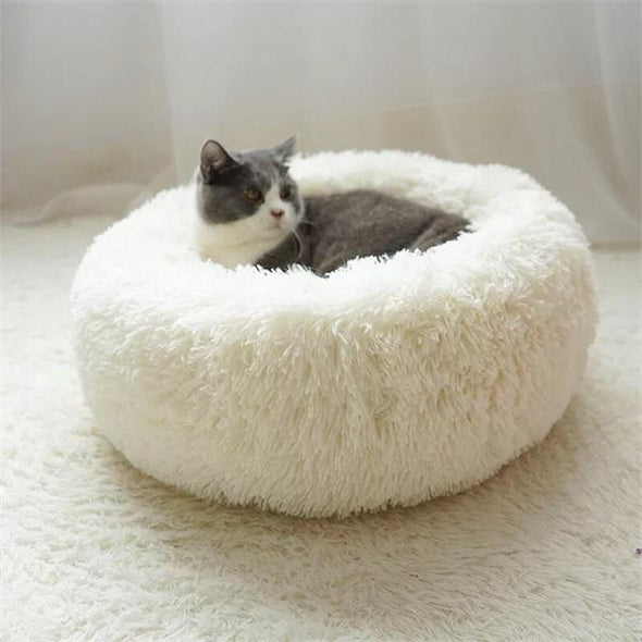 Round Plush Pet Bed House