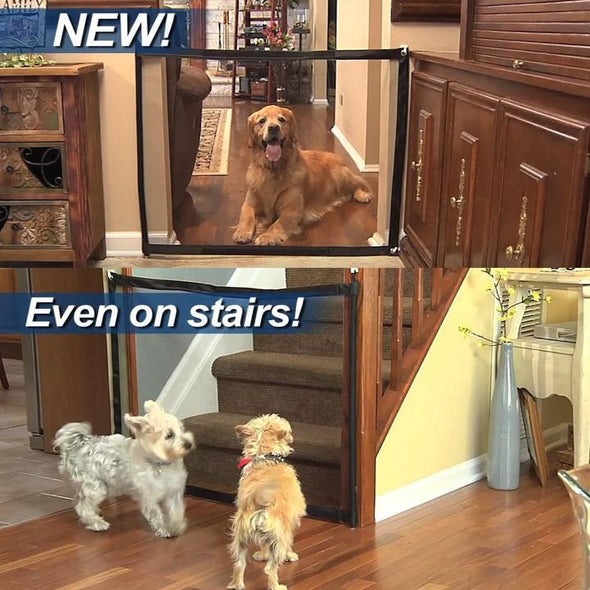 Retractable Dog Gate Portable Pets Safety Gate