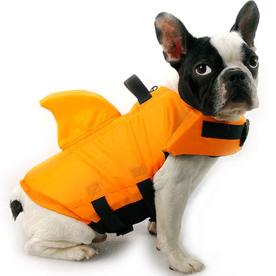 Shark Pattern Dog Swim Life Jacket