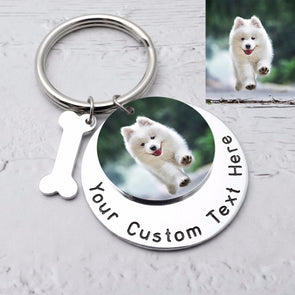 Custom Engraving Keychain With Picture