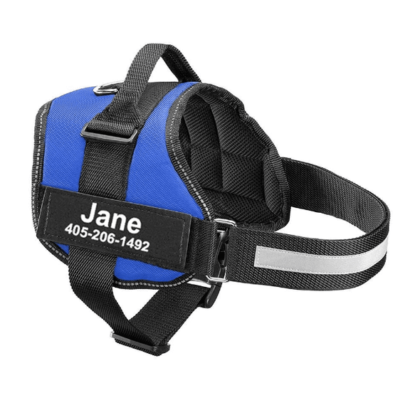 Custom Patches All-In-One No Pull Dog Harness with Side Bags