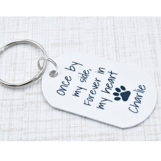 Once By My Side Forever In My Heart Custom Keychain