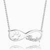 Dog Paw Print Infinity Name Necklace