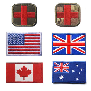 Country Morale Badges Patches