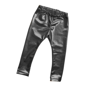 Baby Girl Faux Leather Leggings