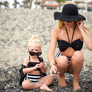 Mommy & Me Floral High Waised Swimwear